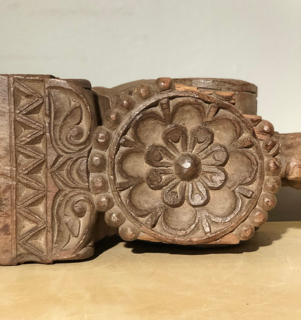 Vintage Hand Carved Wood Ornamental Architectural Salvage Piece From India, Home Decor, Decorative Object, One Of A Kind, Statement Piece