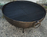 Steel Firebowl From India w/Grill Grate & Stand - Large (riveted) - Nomadic Grill + Home - 1