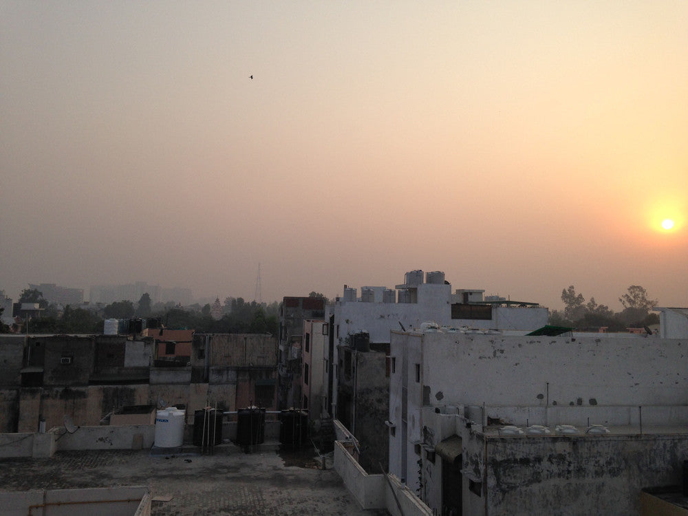 sunrise over Delhi