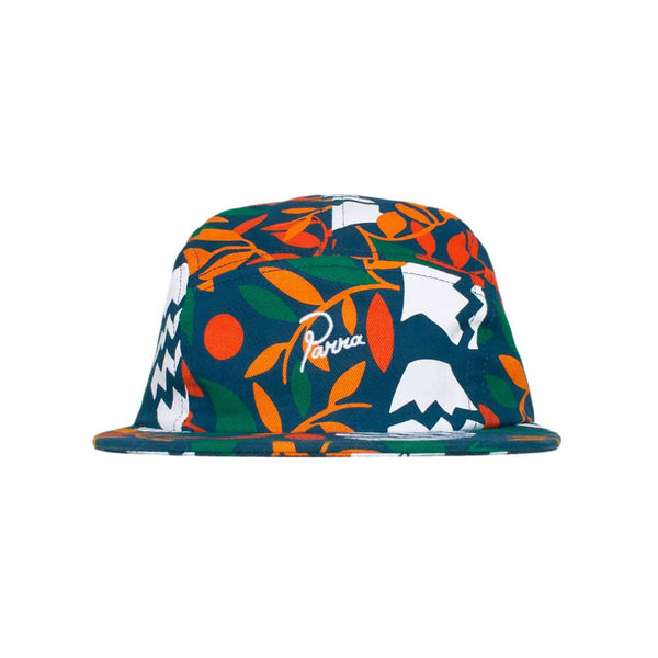 Parra 5 Panel Volley Hat Still Life With Plants Cotton Twill