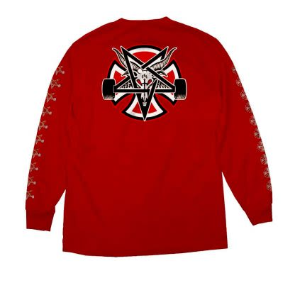 Independent X Thrasher Pentagram Cross L/S Regular Cardinal