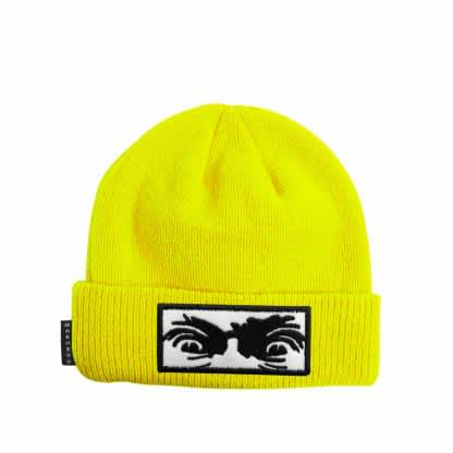 Madness Mad Eyes Beanie Safety Yellow