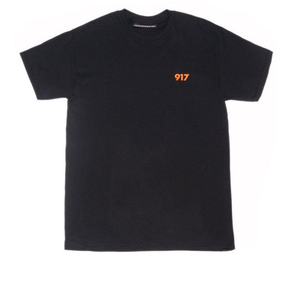 Call Me 917 Code Area Black Tee