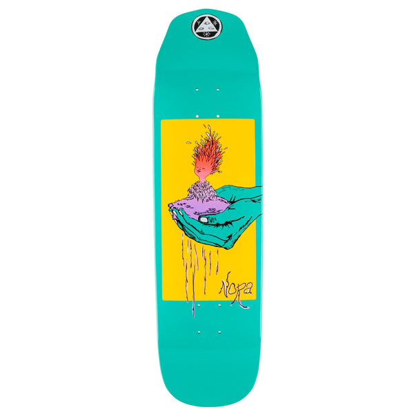 Welcome Skateboards Soil Nora Vasconcellos Wicked Queen Teal 8.6