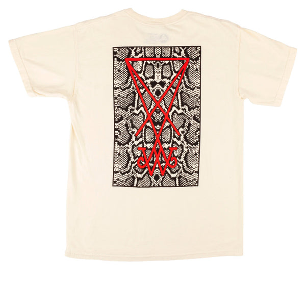 Welcome Skateboards Symbol Garment-Dyed Tee Bone/Snake