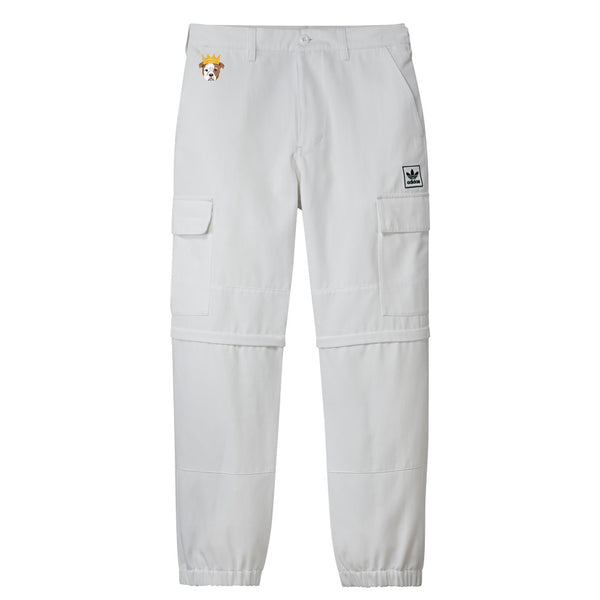 Adidas TJ Cargo Pants White / Collegiate Green