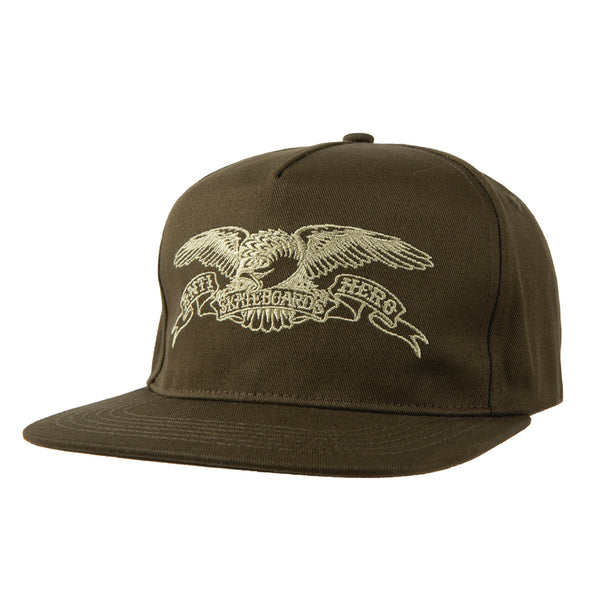 Anti Hero Basic Eagle Emb. Snapback Olive