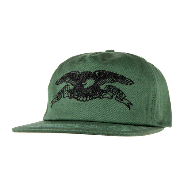 Anti Hero Basic Eagle Emb. Snapback Dark Green / Black