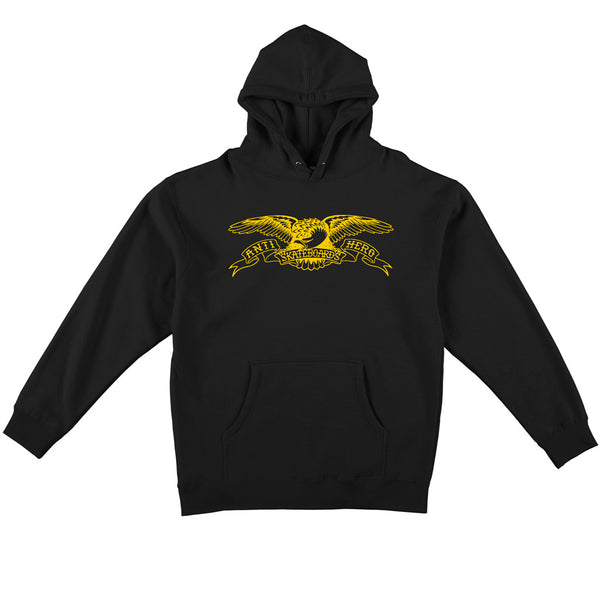 Anti Hero Hoodie Basic Eagle Hoodie Black / Yellow