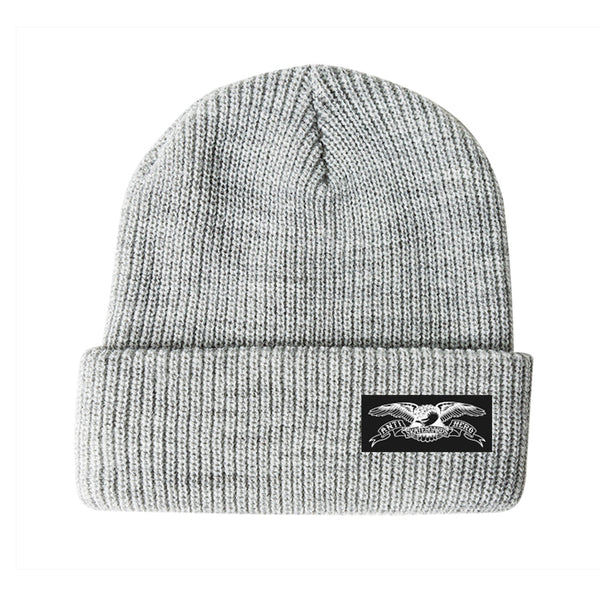 Anti Hero Beanie Stock Eagle Label Cuff H Grey