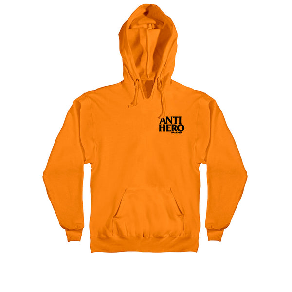Anti Hero Lil Black Hero Emb. Pullover Hooded Orange Q.