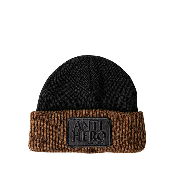 Anti Hero Beanie Reserve Patch Cuff Black / Brown