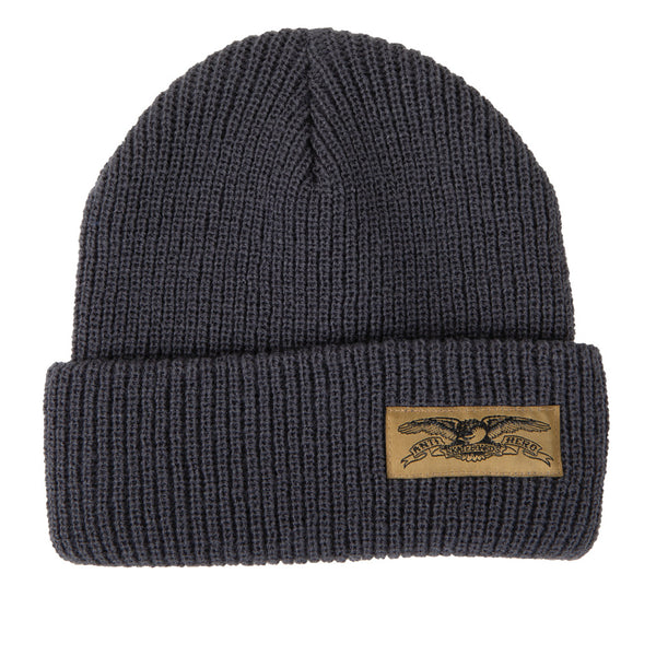 Anti Hero Beanie Stock Eagle Cuff Charcoal