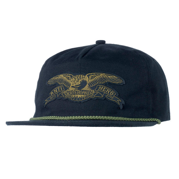 Anti Hero Stock Eagle Patch Snapback Black