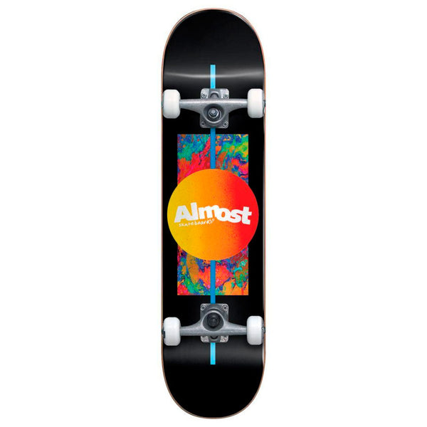 Almost Gradient Flip Black 7.0 First Push Complete Skateboard MINI