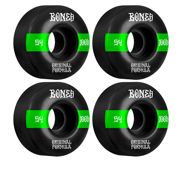 Bones Wheels 100's OG Formula #14 V4 54mm Black