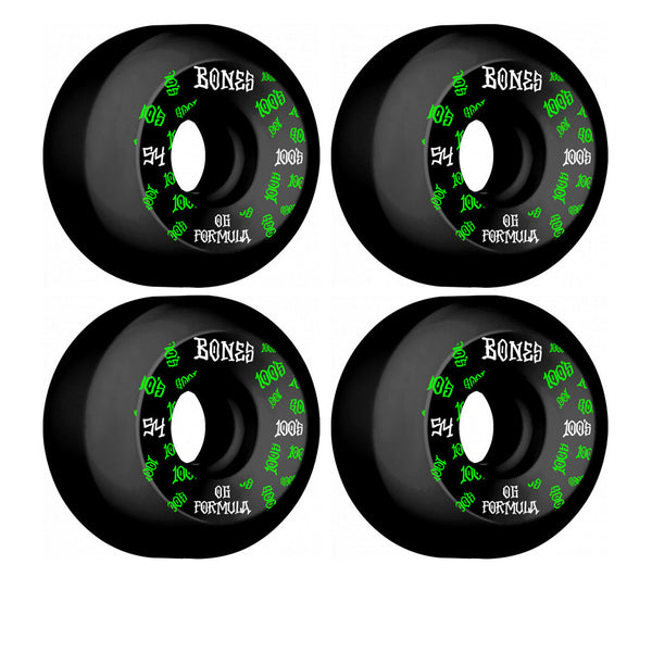 Bones Wheels 100's OG Formula #3 V5 54mm (Black)