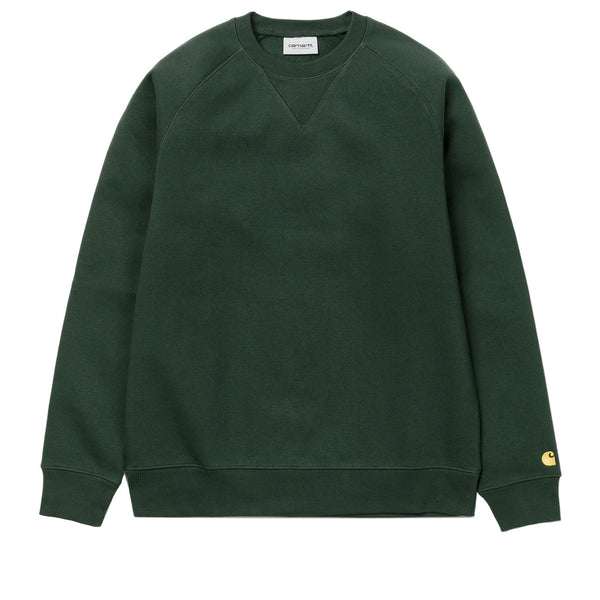 Carhartt Chase Sweat Dark Teal / Gold