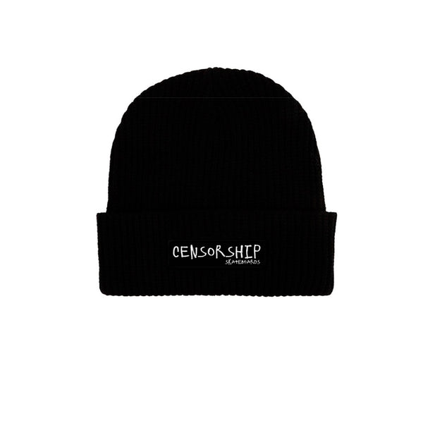 Censorship Scribble Beanie Black
