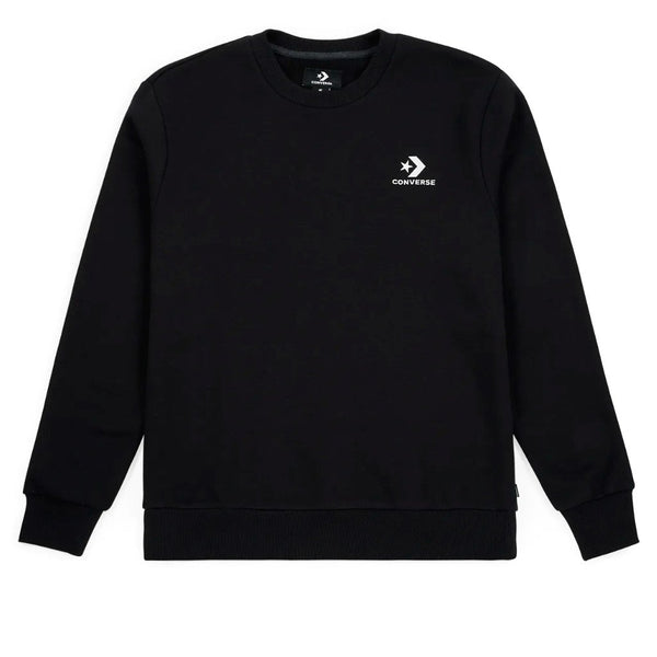 Converse Star Chevron Embroidered Crew Black Q.