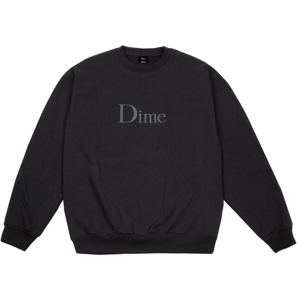 Dime Classic Embroidered Crewneck Black