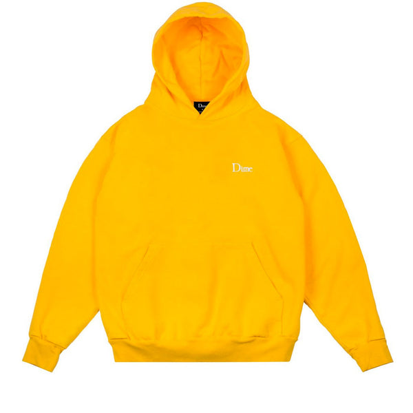 Dime Classic Embroidered Hoodie Yellow Q.