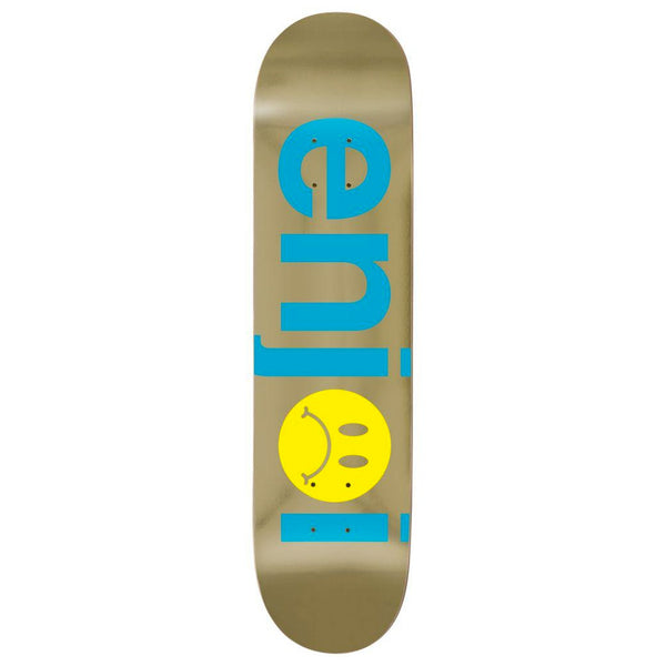Enjoi Frowny Face No Brainer Blue / Gold 7.75