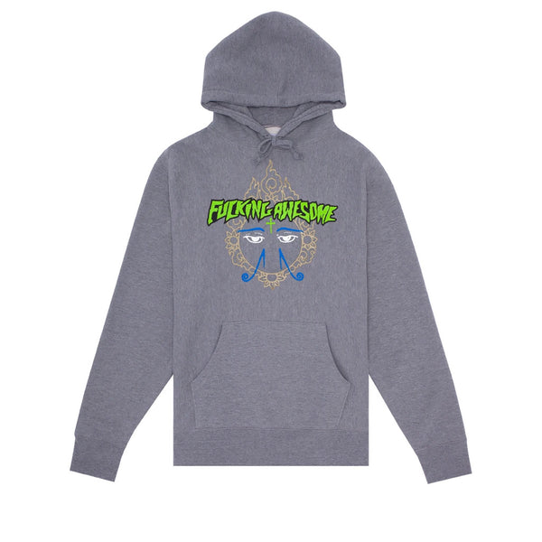 Fucking Awesome Hindu Eyes Hoodie Grey