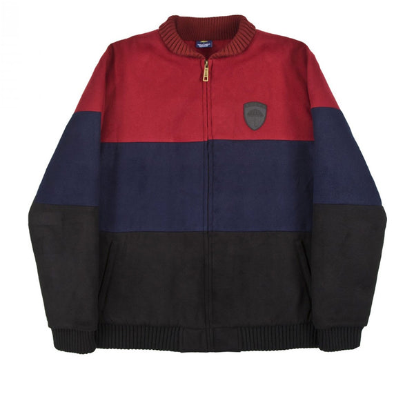 Helas Fan Jacket Burgundy / Navy / Black