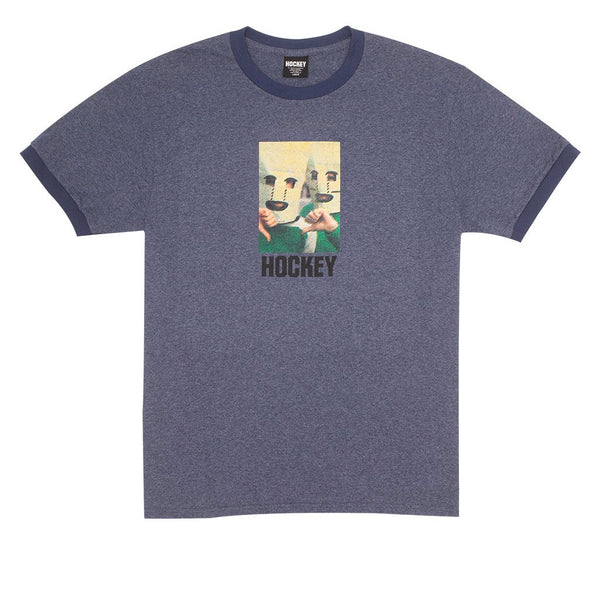 Hockey Baghead Ringer Heather Navy / Navy