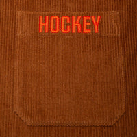 Hockey Corduroy Work Shirt Brown