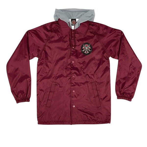 Independent X Thrasher Hooded Coach Jacket Burgundy Q.