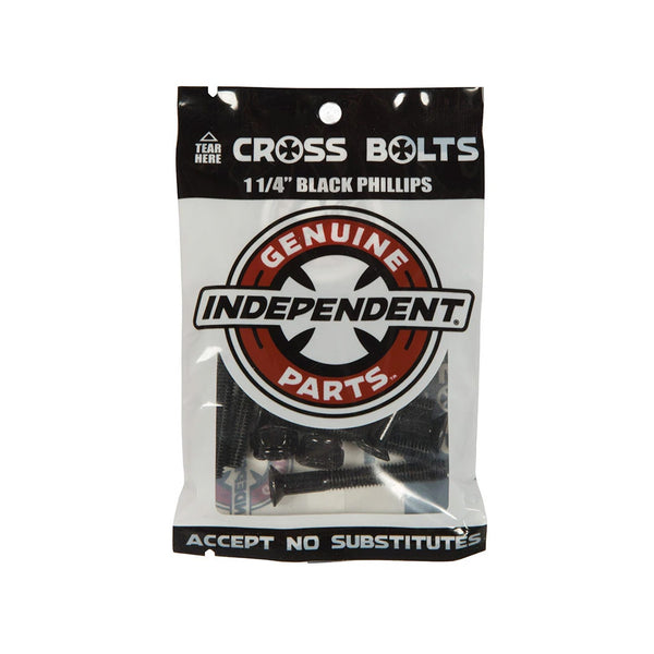 "Independent Cross Bolts 1 1/4"" Black Phillips"