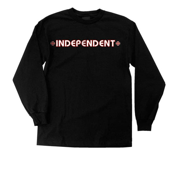 Independent L/S Bar Cross Black