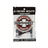 "Independent Cross Bolts 1"" Black Phillips"