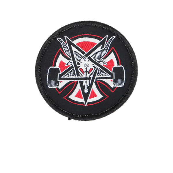 Independent X Thrasher Pentagram Cross Adhesive Back Patch Black