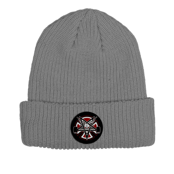 Independent X Thrasher Pentagram Beanie Heather Grey