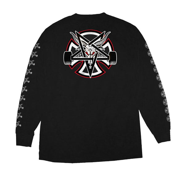 Independent X Thrasher Pentagram Cross L/S Regular Black