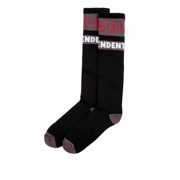 Independent Sock 1 Pack Woven Crosses Black