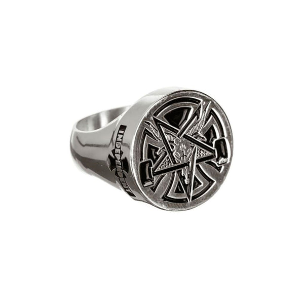 Independent X Thrasher Ring Collab Silver Size 10
