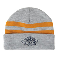 Krooked Arketype Cuff Beanie Heather Grey / Yellow