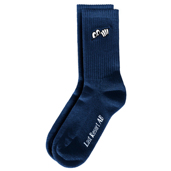 Last Resort Eyes Sock Blue