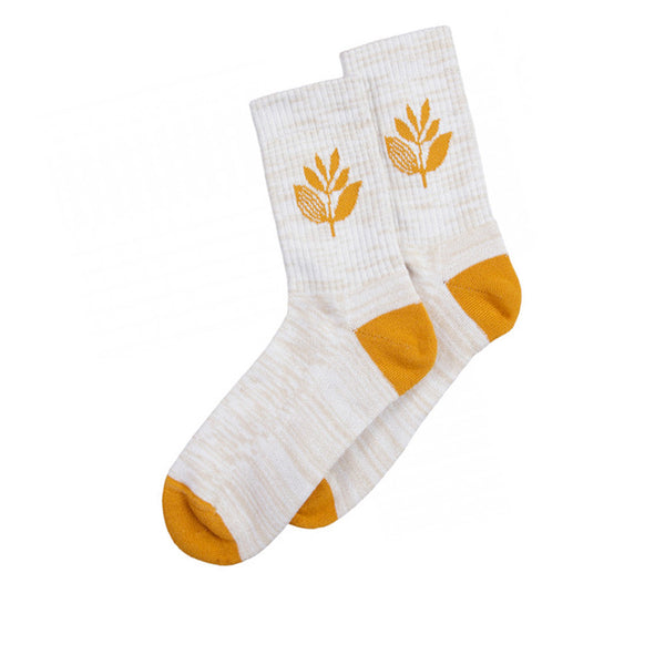 Magenta Socks Plant Heather Cream/ Orange