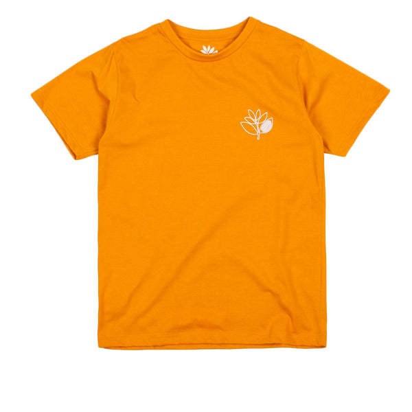 Magenta Plant Outline Tee Orange