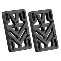 "Mini Logo Riser Rigid ABS Black 0.25"" x2"