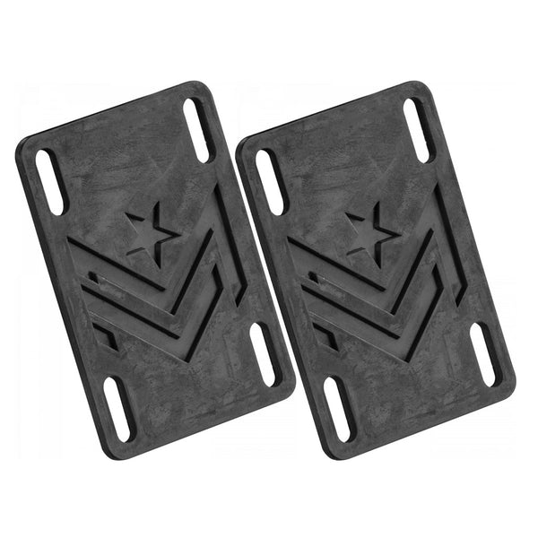 "Mini Logo Riser Rubber Black 0.10"" x2"