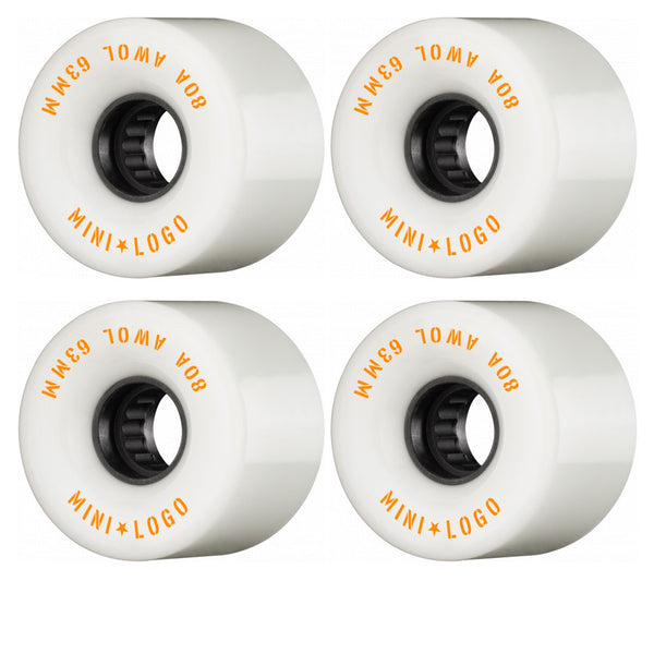Mini Logo A.W.O.L. A-Cut White 63MM 80A