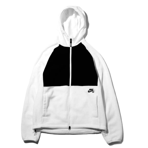 Nike Sb Hoodie Full Zip Polartec White / Black