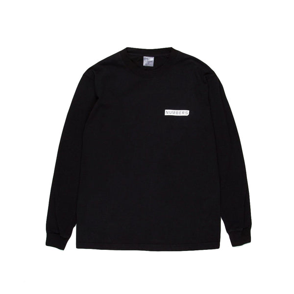 Numbers Mitered Logotype Longsleeve Black