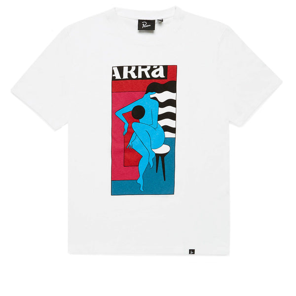 Parra Bar Stool White Tee